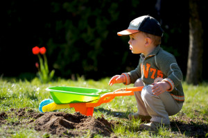 Children's outdoor toys can collect water in which mosquitoes can breed.