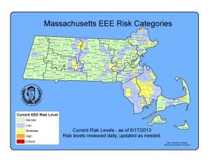 map EEE risk Massachusetts